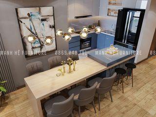 Designer Công ty Cổ Phần Nội Thất Mạnh Hệ Bếp nhỏ MDF Grey