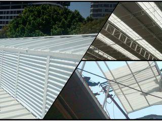 Techos y Mantenimientos   Mevasa Comercializadora Gable roof Metal Metallic/Silver