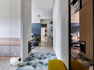 Mucho gusto 耀昀創意設計有限公司/Alfonso Ideas Scandinavian style corridor, hallway& stairs