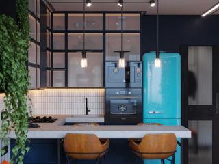 Suiten7 Cocinas de estilo industrial Negro