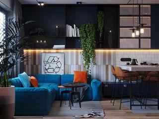 Suiten7 Salas de estilo industrial Naranja