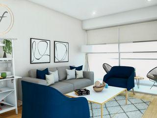 DISEÑO SALA Y COMEDOR LE SAULE LINCE NF Diseño de Interiores Salas modernas