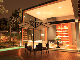 TRAZZO ILUMINACIÓN Varandas, alpendres e terraços modernos