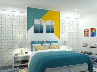 Maayish Architects ChambreLits & têtes de lit Jaune