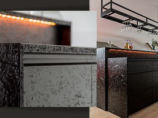 SZARA / studio Modern Home Wine Cellar OSB Black