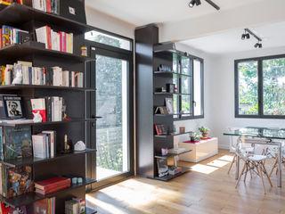 Fables de murs Modern corridor, hallway & stairs MDF Black