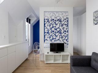 Fables de murs Living room Metal Blue