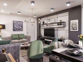 ANTE MİMARLIK Living roomTV stands & cabinets