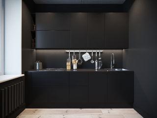 Irina Yakushina Cozinhas minimalistas MDF Preto