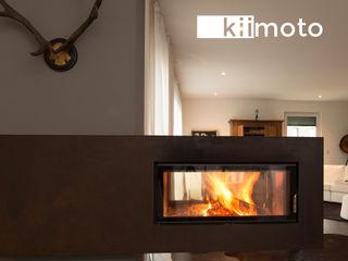 .kii5   kiimoto - Tunnelkamin und Speicherkamin in einem kiimoto kamine WohnzimmerKamin und Zubehör Eisen/Stahl Braun