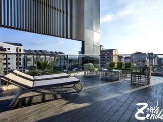 Zendo 深度空間設計 Balcones y terrazas de estilo moderno