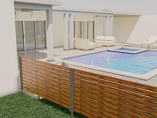 Sixty9 3D Design Basen z hydromasażem O efekcie drewna