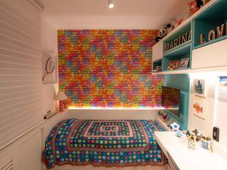 Bloco Z Arquitetura Girls Bedroom MDF Multicolored