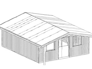 Workshop Redruth - Siberian Larch Building With Frames Wooden houses Wood