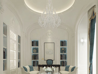 Gorgeous & Classy Office Room Design IONS DESIGN Classic style study/office Stone White
