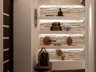 Студия интерьерного дизайна happy.design Pasillos, vestíbulos y escaleras modernos