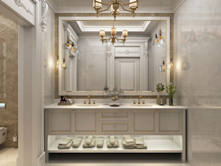 Bathroom / Majidi Palace Sia Moore Archıtecture Interıor Desıgn Eclectic style bathroom Solid Wood White