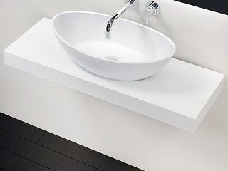 Badeloft - Badewannen und Waschbecken aus Mineralguss und Marmor Ванна кімнатаЗберігання Білий