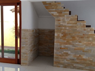 Rebello Pedras Decorativas Paredes y suelos de estilo rústico Arenisca Amarillo