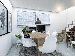 CODIAN CONSTRUCTORA Ruang Makan Gaya Skandinavia White