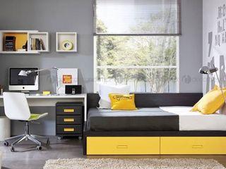 Decordesign Interiores СпальняЛіжка та спинки ДСП Жовтий