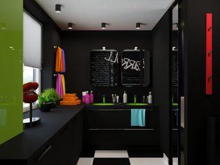 Irina Yakushina Casas de banho minimalistas Preto