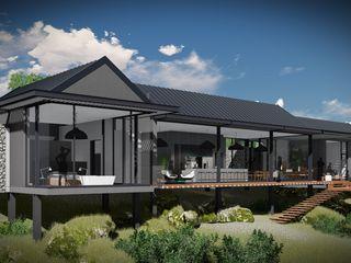 Juan Pretorius Architecture PTY LTD Scandinavian style houses Glass Grey