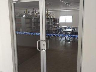 vertikal Pintu Aluminium/Seng Grey