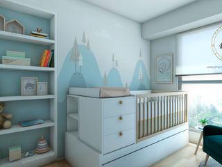 PROYECTO DORMITORIO BEBE LINCE LE SAULE NF Diseño de Interiores Cuartos para bebés