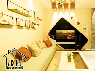 Draw your home إرسم بيتك غرفة المعيشة Yellow
