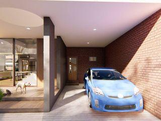 Structura Architects Garajes abiertos Acabado en madera