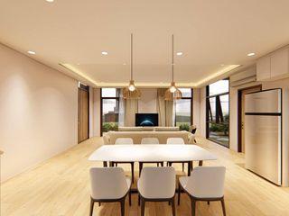 Structura Architects Comedores de estilo escandinavo Blanco