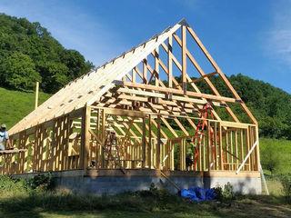 Timber frame home in Grant, California. Structural design S3DA Design Single family home