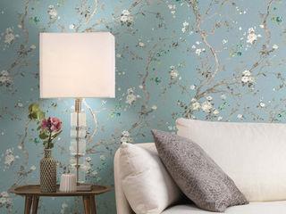 TapetenStudio.de Asian style walls & floors Blue