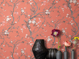 TapetenStudio.de Asian style walls & floors Orange