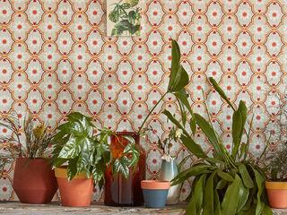TapetenStudio.de Mediterranean style walls & floors Orange
