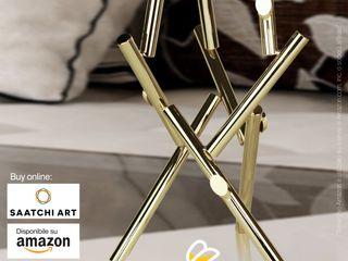 Claudio Bettini ArtworkSculptures Iron/Steel Amber/Gold