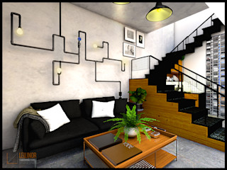 CV Leilinor Architect Industrial style living room Brown