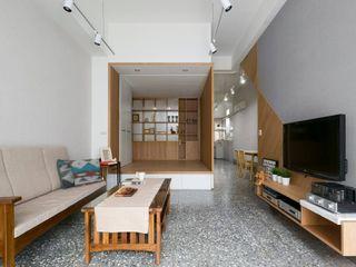 老屋改造!用捲簾隔出舒適的和室 MSBT 幔室布緹 客廳 Wood effect