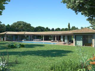 Renders 3D - Views of facades of single-family homes Realistic-design Casas unifamilares
