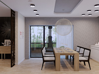 Wide Design Group ミニマルデザインの キッチン
