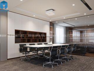 Designer Công ty Cổ Phần Nội Thất Mạnh Hệ Phòng học/văn phòng phong cách hiện đại OSB White