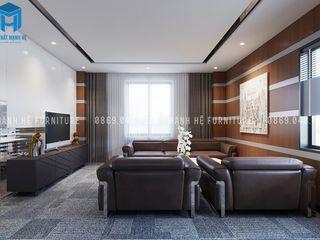 Designer Công ty Cổ Phần Nội Thất Mạnh Hệ Phòng học/văn phòng phong cách hiện đại MDF White