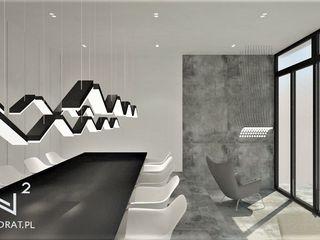 Wkwadrat Architekt Wnętrz Toruń Modern offices & stores Concrete Grey