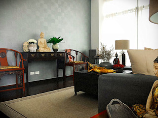 SNS Lush Designs and Home Decor Consultancy Asian style living room