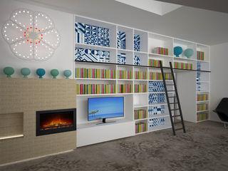 Interior nel castello B+P architetti Soggiorno moderno
