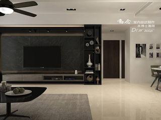 東方威尼斯 木博士團隊/動念室內設計制作 现代客厅設計點子、靈感 & 圖片 Black