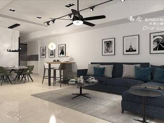 東方威尼斯 木博士團隊/動念室內設計制作 现代客厅設計點子、靈感 & 圖片