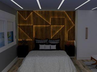 STUDIO SPECIALE - ARQUITETURA & INTERIORES Small bedroom Wood Wood effect