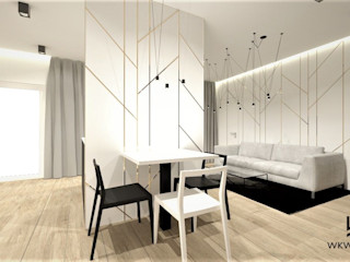 Wkwadrat Architekt Wnętrz Toruń Modern living room Wood White